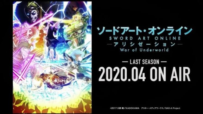Ngegas! Serial SAO: Alicization – War of Underworld 'Last Season' Tayang April 2020!