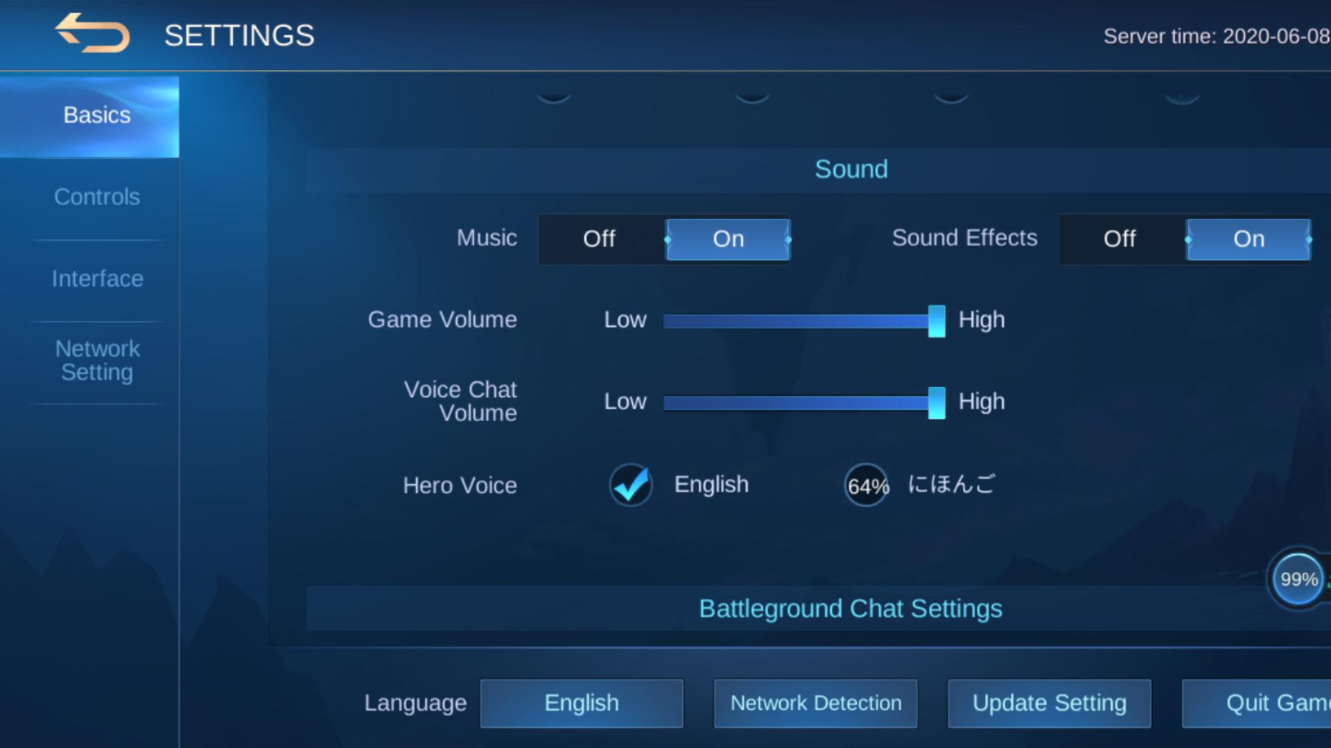 mengubah suara mobile legends versi jepang