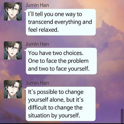 Jumin Han's quote
