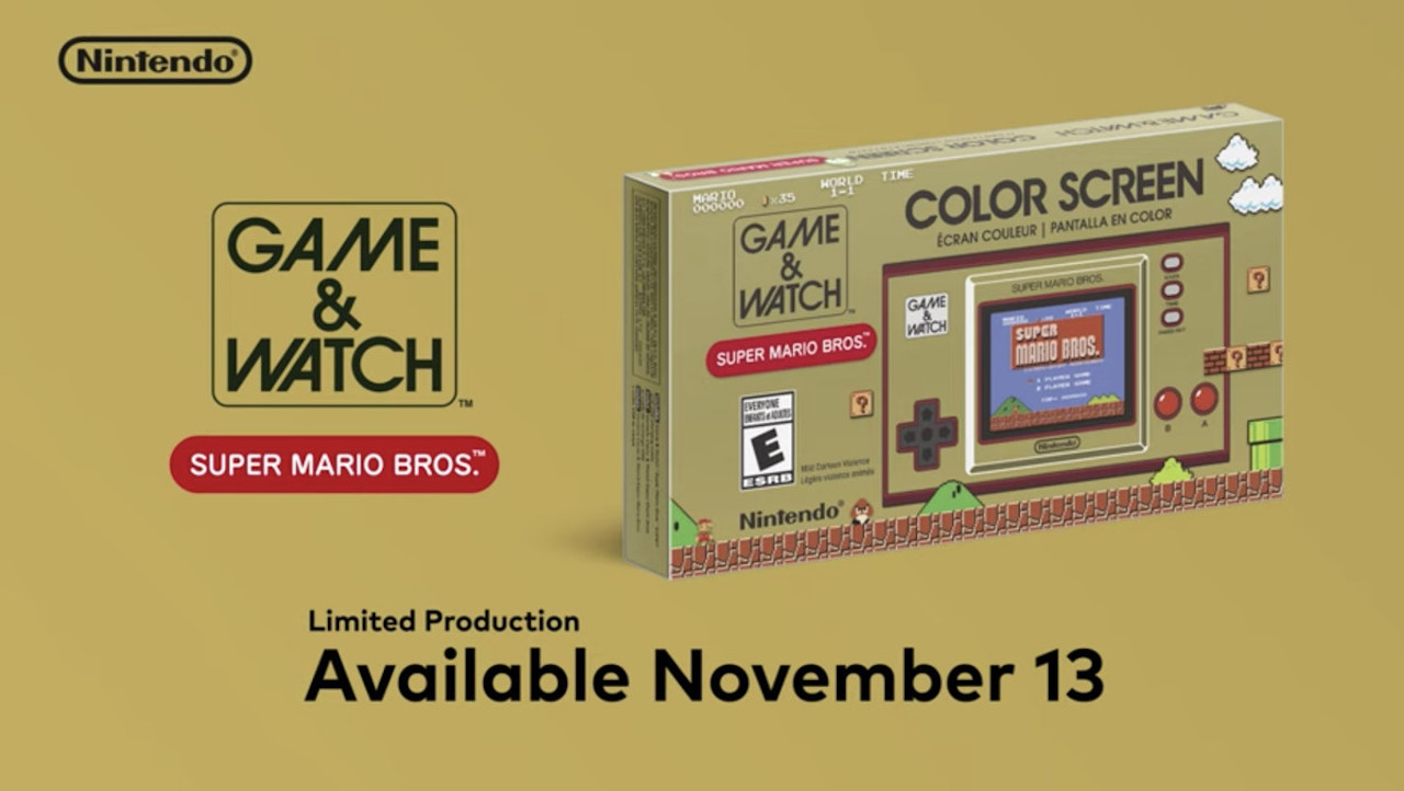 Nintendo Game and Watch Edisi Super Mario Bros Dirilis Ulang