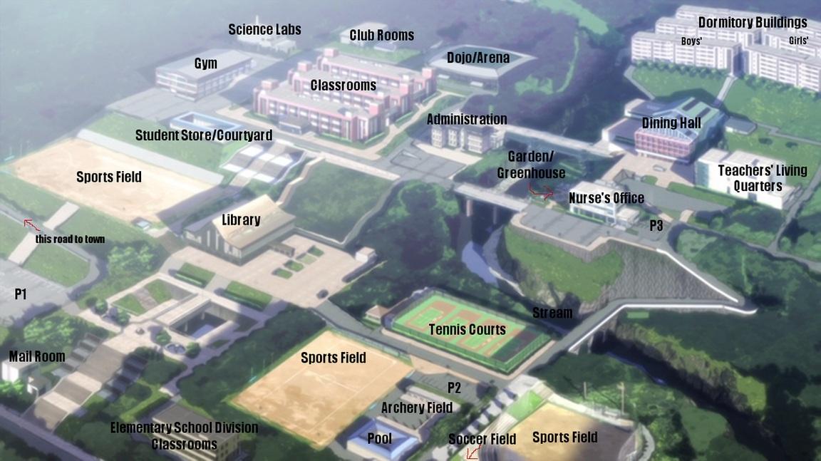 Peta Sekolah Angel Beats