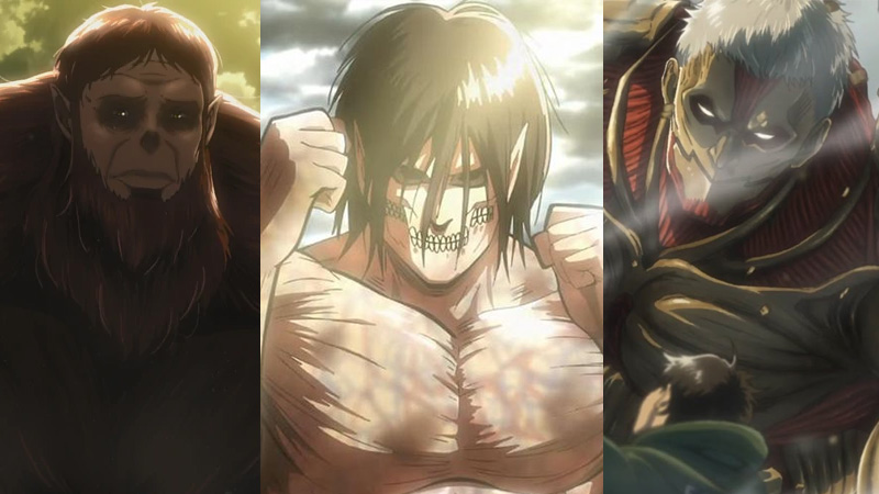 9 titan di attack on titan